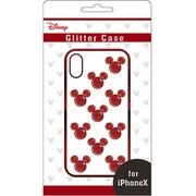 グリッターケース iPhone X用 ディズニー01 RD