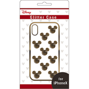 グリッターケース iPhone X用 ディズニー03 BK