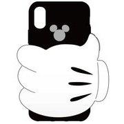 シリコンケース iPhone X用 ディズニー01 BK