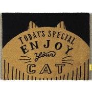 Nekosulu? タオル地バスマット Enjoy Cat [約縦45×横60cm]
