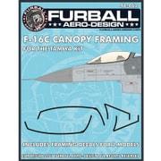 FAD48-062 アメリカ空軍 F-16C キャノピーシール(2機分) [1/48 デカール]