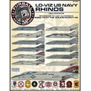 FAD48-064 アメリカ海軍 F-4J/S ロービジ ネイビー・ライノ [1/48 デカール]