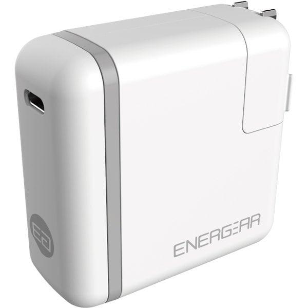 E00460A1CWHTUS [USB PD正規認証品TYPE-C ACアダプタ46W(ホワイト)180cm認証品ケーブルSET]