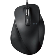 M-XGL10UBXBK [EX-G BlueLEDマウス 握りの極み Lサイズ 有線 5ボタン ブラック]