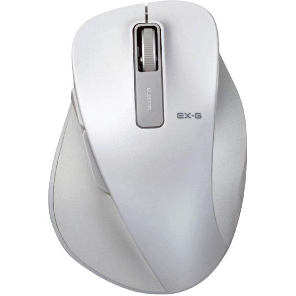 M-XGM10DBXWH [EX-G BlueLEDマウス 握りの極み Mサイズ 無線 2.4GHz 5ボタン ホワイト]
