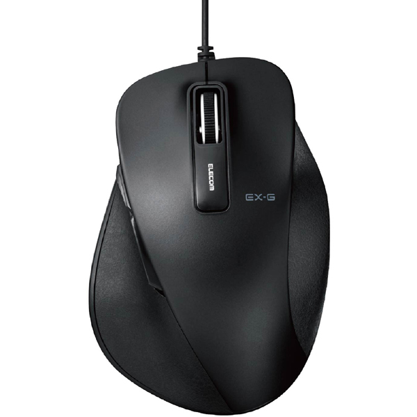 M-XGM10UBXBK [EX-G BlueLEDマウス 握りの極み Mサイズ 有線 5ボタン ブラック]