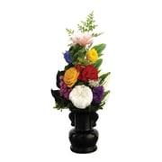 お供え用プリザーブドフラワーアレンジメント 花器付M