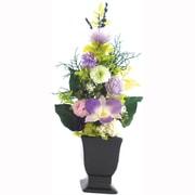 お供え用プリザーブドフラワーアレンジメント「蘭」 花器付L