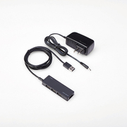 U2H-GMA4SBK [PS4専用 USBHUB2.0 ACアダプタ付 セルフパワー 4ポート ブラック]