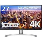 27UK650-W [27型 HDR対応4Kモニター (ノングレア 3840×2160) AMD FreeSync テクノロジー/高さ調整/ピボット/フリッカーセーフ/DAS Mode対応]
