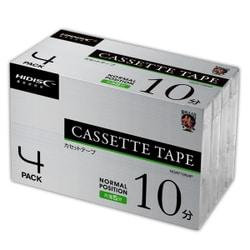 HDAT10N4P [カセットテープ 10分(片面5分) 4本パック]