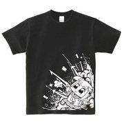 ポプテピピック ブラックTシャツ A [メンズフリー]