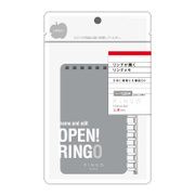 RG1Y [RINGO メモ A7変型 8穴 スターターセット ヨコ罫 120枚]