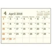 CL184-E-A4 [2018年4月始まり A4 ウォールカレンダーE]