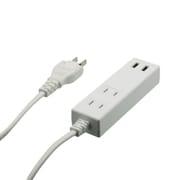 OWL-OTA2U2S10-WH [スマートIC搭載 急速充電2.4A出力対応 USBポート付き OAタップ 1m ホワイト]