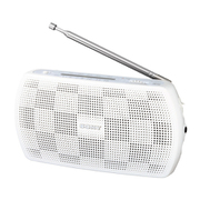 SRF-19 W [ポータブルラジオ FMステレオ/AMラジオ ホワイト]
