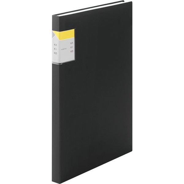 8632Wクロ [クリアーファイル カキコ 40ポケット(小口20枚) 黒]