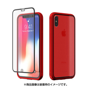 CUSTOM Monolith Crystal(モノリス クリスタル) X for iPhone X用 Red