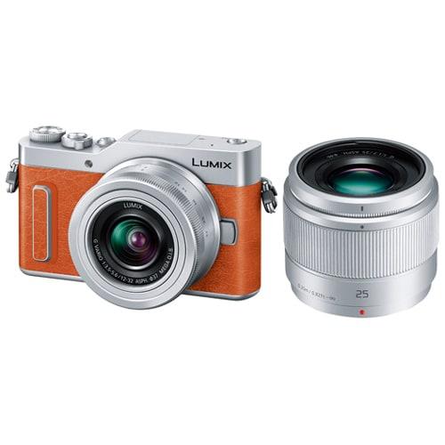 DC-GF10W-D ダブルレンズキット オレンジ [「LUMIX GF10 ボディ」+「LUMIX G VARIO 12-32mm F3.5-5.6 ASPH. MEGA O.I.S.」+「LUMIX G 25mm/F1.7 ASPH.」]