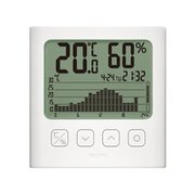 TT-580-WH [グラフ付きデジタル温湿度計 ホワイト]
