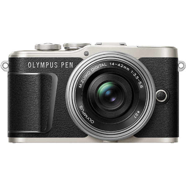 PEN E-PL9 14-42mm EZレンズキット ブラック [ボディ+「M.ZUIKO DIGITAL ED 14-42mm F3.5-5.6 EZ(シルバー)」]