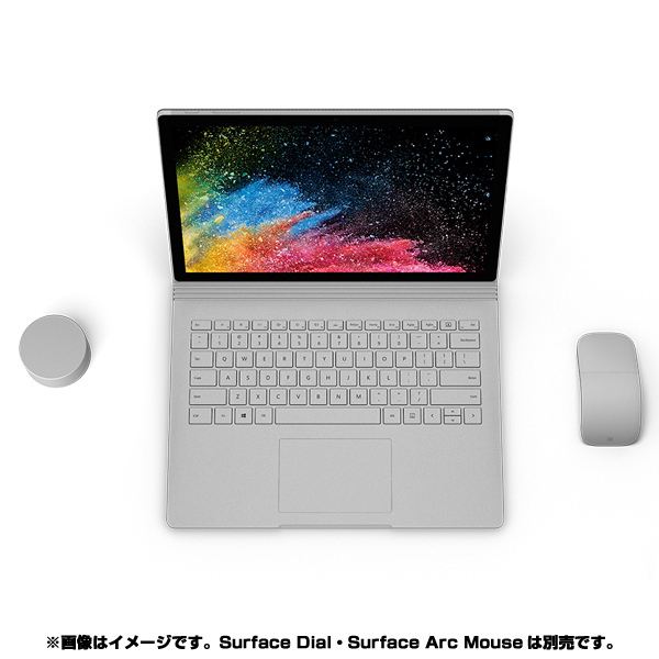 HNR-00010 [Surface Book 2 (サーフェスブック 2) 15インチ/第8世代 Intel Core i7/RAM 16GB/SSD 256GB/dGPU/Nvidia GEFORCE GTX 1060/Office 2016/シルバー]