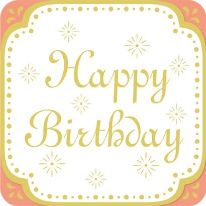 moovinカード ROUNDED Happy Birthday
