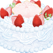 moovinミニボード CAFEFOOD Strawberry Cake