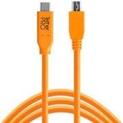 CUC2515-ORG [TetherPro USB-C to 2.0 Micro-B 5-Pin 4.6m オレンジ]