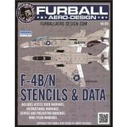 FRD48-013 [アメリカ海軍 F-4B/N ファントム ステンシル 1/48 デカール]