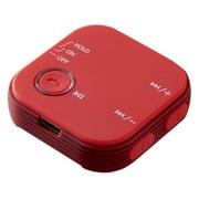 GH-BHRC-RD [オーディオレシーバー Bluetooth4.1 クリップ付 レッド]