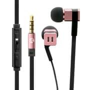 LP-EP06PGD [極の音域 SQUARE(スクエア) iPhone/スマートフォン対応 イヤフォン(ボリューム/マイク付) ピンクゴールド]
