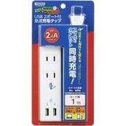 VFC24A2AC2U [国内海外兼用タップ 2個口+USB2ポート 2.4A 1m]