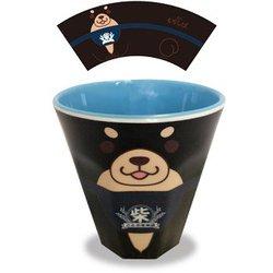 忠犬もちしば メラミンカップ ごまフェイス [H9×直径8.8cm]