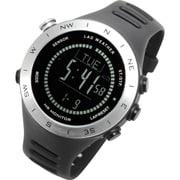 LAD048sv-bk [腕時計 SENSOR MASTER V ドイツ製センサー搭載/心拍/天気/高度計/方位計/気圧計/USB充電式]