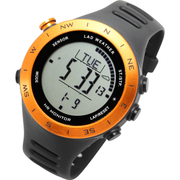 LAD048or-no [腕時計 SENSOR MASTER V ドイツ製センサー搭載/心拍/天気/高度計/方位計/気圧計/USB充電式]