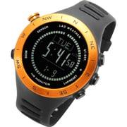 LAD048or-bk [腕時計 SENSOR MASTER V ドイツ製センサー搭載/心拍/天気/高度計/方位計/気圧計/USB充電式]