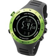 LAD048gr-bk [腕時計 SENSOR MASTER V ドイツ製センサー搭載/心拍/天気/高度計/方位計/気圧計/USB充電式]