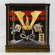 Koei-406 [兜ケース飾り 6号彫金中鍬兜]