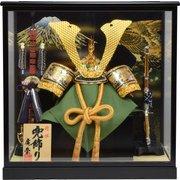 Koei-407 [兜ケース飾り 13号彫金兜]