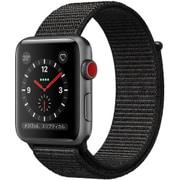 Apple Watch Series 3 (GPS + Cellularモデル) 42mm スペースグレイアルミニウムケース と  スポーツループ ブラック [MRQH2J/A]