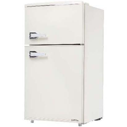 WRD-2090W [レトロ冷蔵庫 (85L・右開き) 2ドア レトロホワイト]