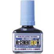 MC132 [Mr.セメント SPB ブラック 流し込み接着剤 スチロール樹脂用 40ml]
