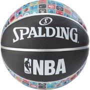 83-649Z NBAアイコンボール ブラック 7 [バスケットボール]