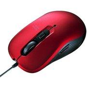 MA-BL114R [有線 ブルーLED マウス レッド]