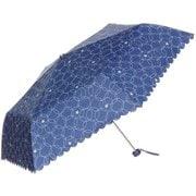 折傘 ドットサークル 55cm ネイビー [折りたたみ傘]