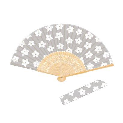 704 Wamon 日本の紋様シリーズ 小花 [扇子]