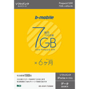 BS-IPAP-7G6MM [b-mobile 7GB×6ヶ月SIMパッケージ (SoftBank/マイクロ/for iPad)]