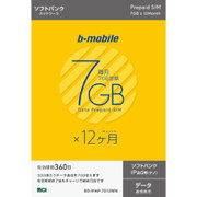 BS-IPAP-7G12MN [b-mobile 7GB×12ヶ月SIMパッケージ (SoftBank/ナノ/for iPad)]