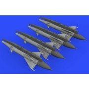 EDU672191 [1/72スケール ブラッシン:レジンパーツシリーズ RS-2US 「アルカリ」 空対空ミサイル (MiG-21用、4個入り) (エデュアルド用)]